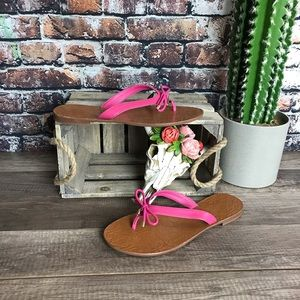 Kate Spade Sandals Charles Pink Straps New